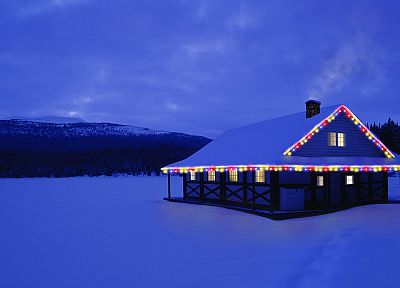 Canada, Christmas, Alberta, cottage - random desktop wallpaper