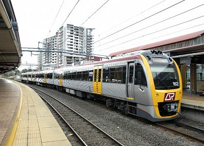 trains, electric, public, transportation, Queensland Rail - desktop wallpaper
