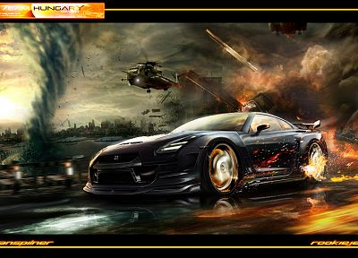 cars, explosions, tornadoes - related desktop wallpaper