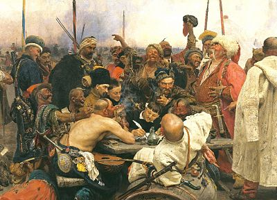 paintings, Ukraine, artwork, Ilya Repin, cossacks - random desktop wallpaper