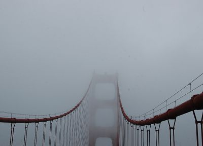 fog, bridges, Golden Gate Bridge - random desktop wallpaper
