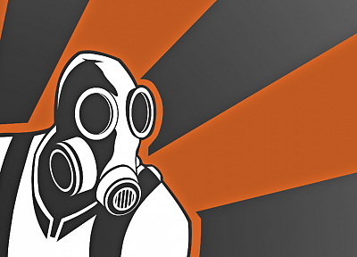Pyro TF2, gas masks, Team Fortress 2 - random desktop wallpaper