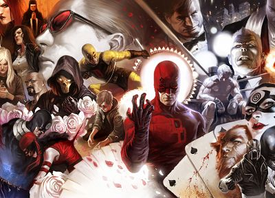 comics, superheroes, Daredevil, artwork, Marvel Comics - desktop wallpaper