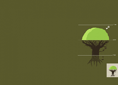 minimalistic, trees, Threadless - desktop wallpaper