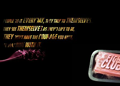 quotes, Fight Club, soap, Tyler Durden - random desktop wallpaper