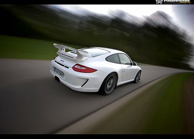 cars, blurred, Porsche 911 GT3 - random desktop wallpaper