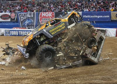crash, wrecks, vehicles, monster truck, monster jam - related desktop wallpaper