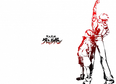 Kamina, Tengen Toppa Gurren Lagann, Simon, simple background - random desktop wallpaper