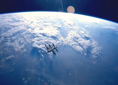 clouds, outer space, planets, Earth, International Space Station - related desktop wallpaper