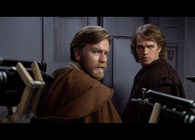 Star Wars, Ewan Mcgregor, Anakin Skywalker, Hayden Christensen, Obi-Wan Kenobi - random desktop wallpaper