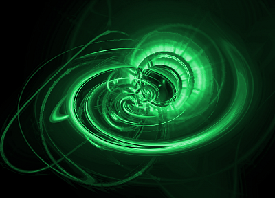 green, abstract, black background - desktop wallpaper