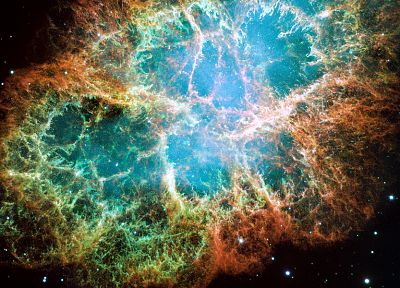 outer space, nebulae, Crab Nebula - random desktop wallpaper