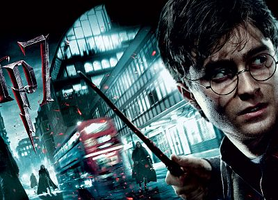 Harry Potter, Harry Potter and the Deathly Hallows, Daniel Radcliffe, men with glasses - random desktop wallpaper