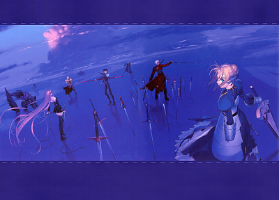 Fate/Stay Night, Gilgamesh, Type-Moon, Saber, Rider (Fate/Stay Night), Archer (Fate/Stay Night), Fate series - related desktop wallpaper