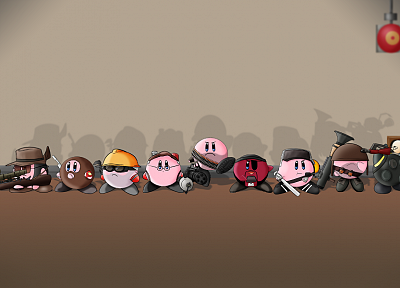 Kirby, Valve Corporation, Heavy TF2, Pyro TF2, Spy TF2, Scout TF2, Medic TF2, snipers, Demoman TF2, Team Fortress 2 - related desktop wallpaper