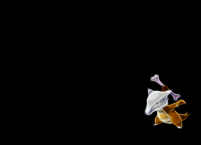 Pokemon, Marowak, black background - desktop wallpaper