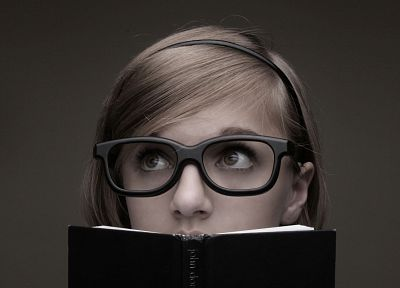 women, glasses, books, girls with glasses - desktop wallpaper