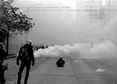 riots, police, rebel, masks, gas - desktop wallpaper