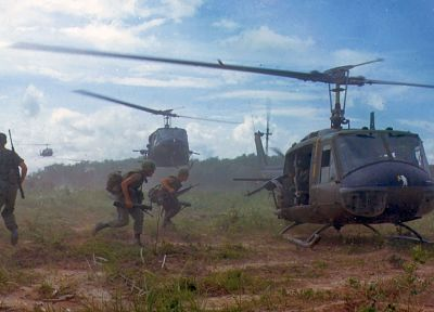 aircraft, war, military, helicopters, Viet Nam, vehicles, UH-1 Iroquois - desktop wallpaper