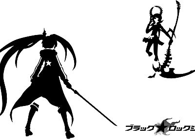 Black Rock Shooter, Dead Master, simple background - random desktop wallpaper