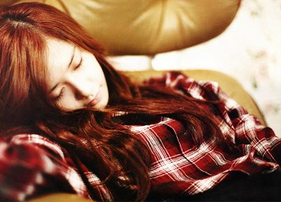 Girls Generation SNSD, celebrity, Im YoonA, closed eyes - desktop wallpaper