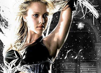 women, Jessica Alba, actress, Sin City - desktop wallpaper