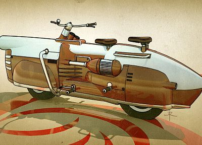 ixlrlxi, motorcycles, dieselpunk, retrofuture - random desktop wallpaper