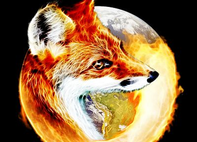 Firefox, foxes - random desktop wallpaper