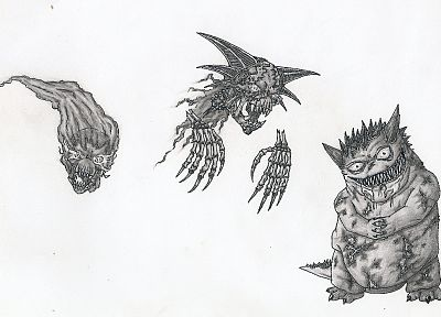 Pokemon, Gengar, sketches, Haunter, Gastly - random desktop wallpaper