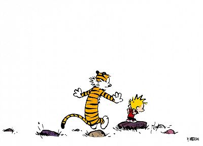 Calvin, Calvin and Hobbes - desktop wallpaper