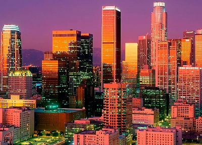 cityscapes, buildings, downtown, Los Angeles, HDR photography - desktop wallpaper