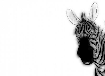 Fractalius, zebras - desktop wallpaper