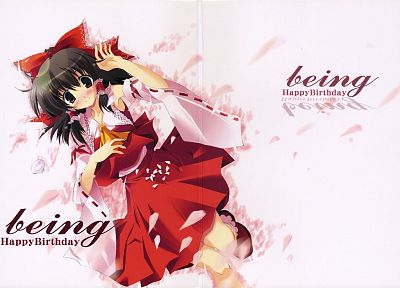 video games, Touhou, Miko, Hakurei Reimu, Japanese clothes, anime girls, detached sleeves - random desktop wallpaper