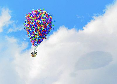 Up (movie), animation, balloons - random desktop wallpaper