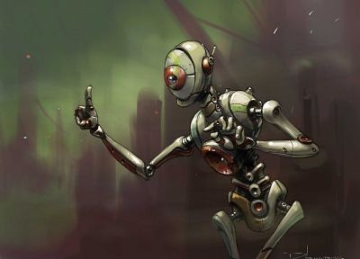 robots, science fiction, artwork - random desktop wallpaper