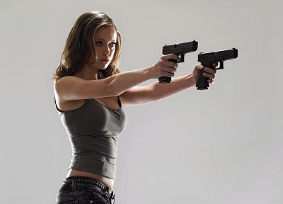 Terminator, Summer Glau, weapons, Terminator The Sarah Connor Chronicles, Cameron Phillips - desktop wallpaper
