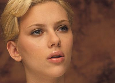 blondes, women, Scarlett Johansson, actress, faces, portraits - desktop wallpaper