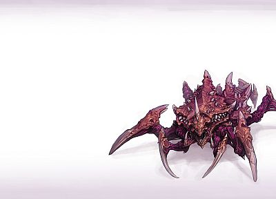 video games, StarCraft, Zerg, artwork, Lurker - related desktop wallpaper