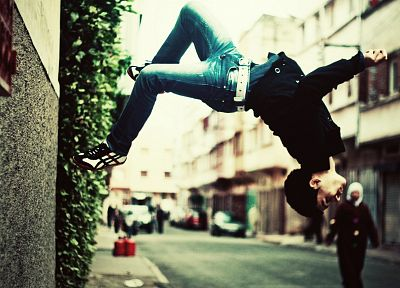 jeans, urban, parkour, stunt - random desktop wallpaper
