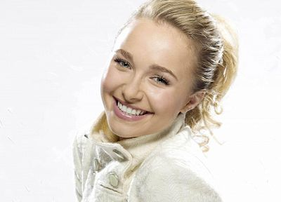 women, actress, Hayden Panettiere, celebrity, white background - random desktop wallpaper