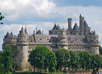 castles, architecture, France, Pierrefonds - related desktop wallpaper