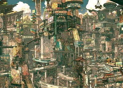 cityscapes, buildings, imperial boy, artwork, detailed - related desktop wallpaper