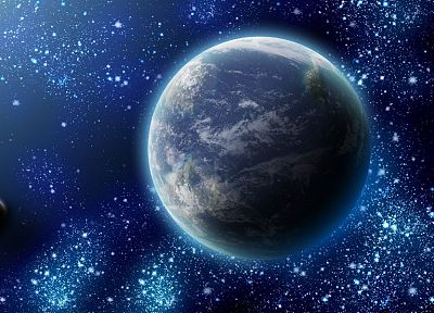 outer space, stars, planets, Earth, the universe, journey - random desktop wallpaper