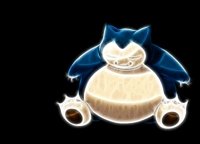 Pokemon, Fractalius, Snorlax, simple background, black background - random desktop wallpaper