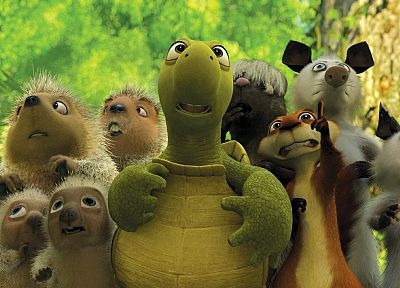 animals, animation, Over the Hedge - desktop wallpaper