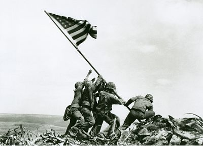 World War II, Iwo Jima, Joe Rosenthal, redneck - random desktop wallpaper