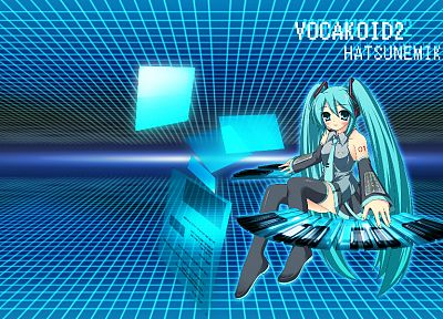 Vocaloid, Hatsune Miku, twintails, detached sleeves - random desktop wallpaper
