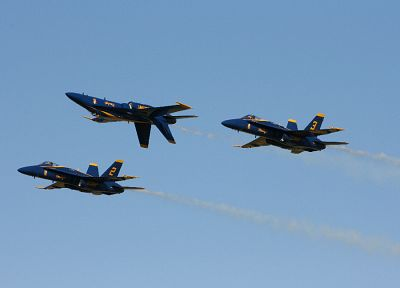 aircraft, vehicles, blue angels, F-18 Hornet - desktop wallpaper