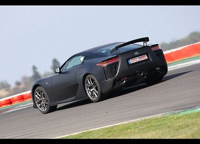 black, cars, Lexus LFA - desktop wallpaper