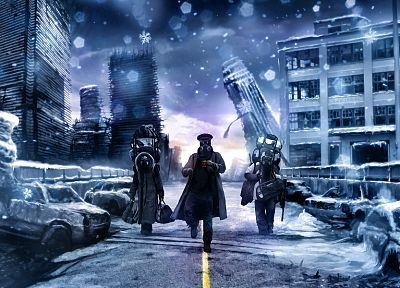 winter, comics, artwork, drawn, Romantically Apocalyptic, Vitaly S Alexius - desktop wallpaper